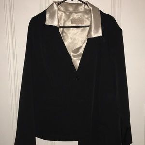 Suit jacket with top
